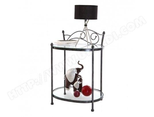 table de chevet baroque noire m tal venezia miliboo 16798 pas cher. Black Bedroom Furniture Sets. Home Design Ideas