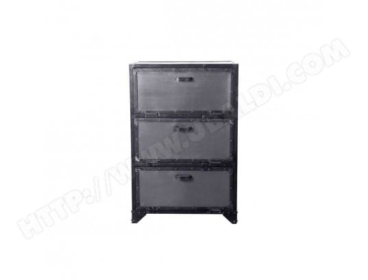 meuble chaussures commode industriel m tal factory miliboo 22125 pas cher. Black Bedroom Furniture Sets. Home Design Ideas