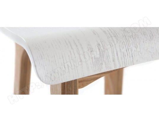 fa2557e9206590 MILIBOO - Tabouret   chaise de bar design bois naturel et blanc scandinave  H75 cm BALTIK 38937