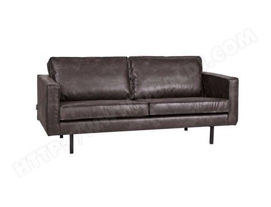 canap cuir vintage noir 3 places aspen miliboo 40444 - Canape Cuir Vintage Pas Cher
