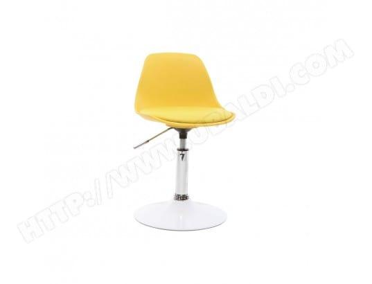 Chaise de bureau design enfant jaune STEEVY MILIBOO 42209