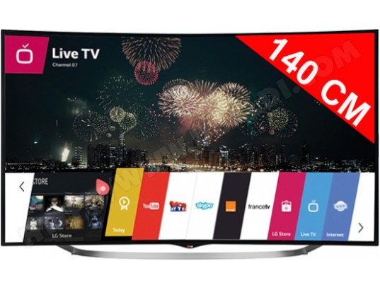 avis tv led 4k incurv 3d 140 cm lg 55uc970v test critique et note. Black Bedroom Furniture Sets. Home Design Ideas