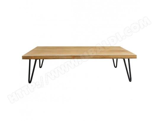 Table basse bois manguier pied épingle métal VIBES MILIBOO ...