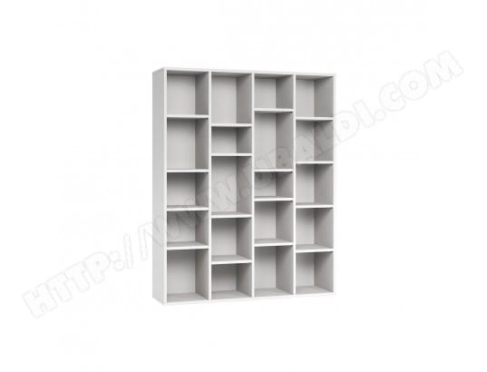 biblioth que design en bois blanc rythm miliboo ma 78ca43. Black Bedroom Furniture Sets. Home Design Ideas