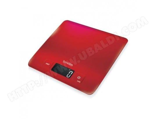 Terraillon Carre Inox Red 6 Kg 20x20 Cm Slim Pas Cher Balance De