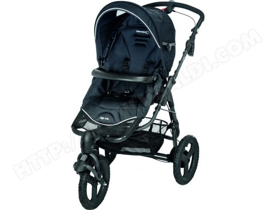 Poussette 3 roues BEBE CONFORT High Trek black raven 2015