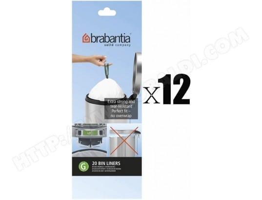 brabantia 246265 240 sacs poubelle 30l code g pas cher. Black Bedroom Furniture Sets. Home Design Ideas