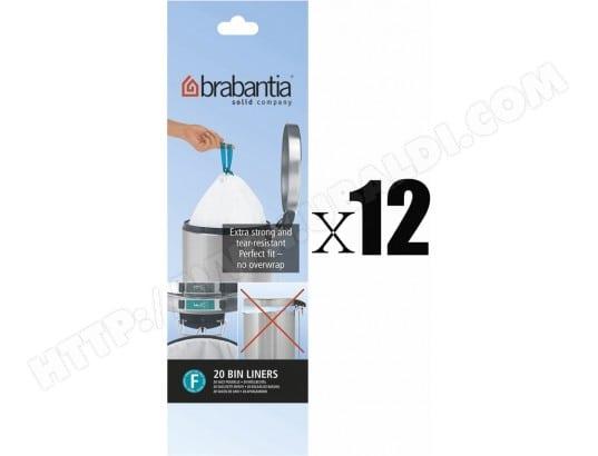 brabantia 246784 120 sacs poubelle 50 60l code h pas cher. Black Bedroom Furniture Sets. Home Design Ideas