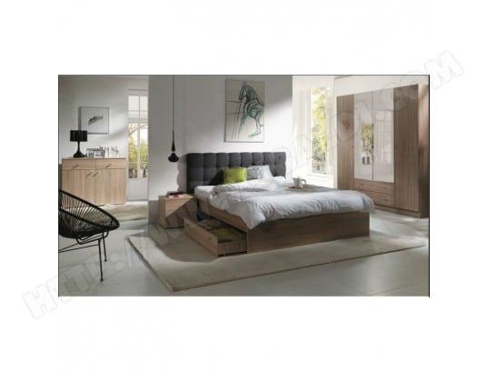 Chambre A Coucher Complete Maxim Lit Adulte 160x200 Cm Tiroir