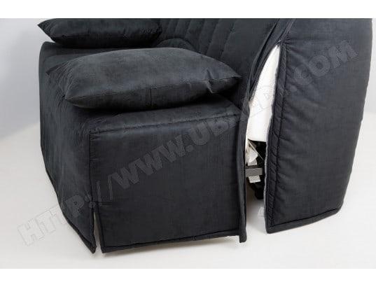 Canape Lit Ub Design Lila Bz 140 Mf Noir Matelas 35 Kg M3 Pas Cher