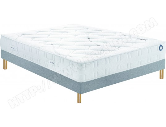 ensemble matelas sommier 120 x 190 bultex lit inovo 9400 120x190cm pieds. Black Bedroom Furniture Sets. Home Design Ideas