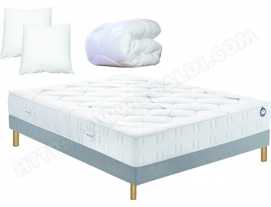 ensemble matelas sommier 160 x 200 bultex lit inovo 9400 160x200cm pack. Black Bedroom Furniture Sets. Home Design Ideas