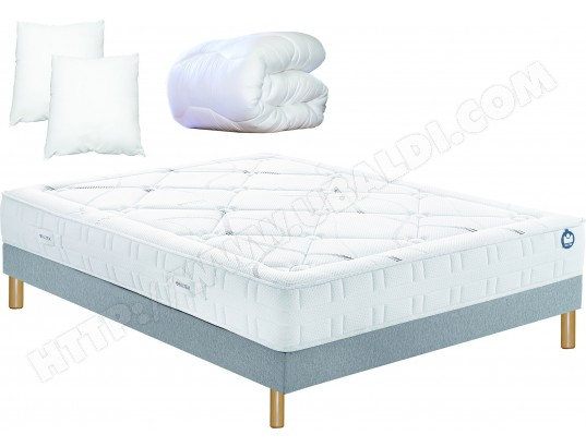 ensemble matelas sommier 160 x 200 bultex lit inovo 9500 160x200cm pack. Black Bedroom Furniture Sets. Home Design Ideas