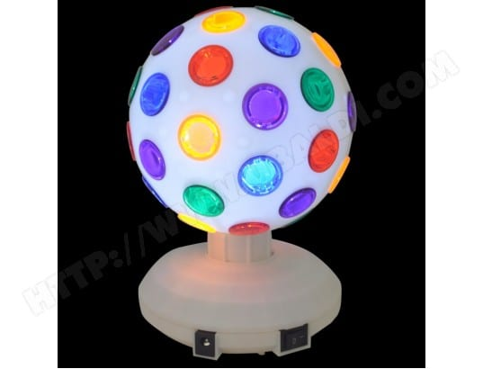 Jeu de lumière - Boule Disco à LEDs RVB 8/20 cm 360° - Ibiza Light DL8LED-WH BOOST BOOST-DL8WH-SE