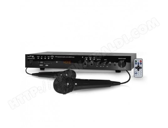 Amplificateur HiFi Stéréo MP5 2x50W avec vidéo MP5 HDMI/USB/SD/FM/BLUETOOTH + 2 Mic LTC AUDIO ATM6100MP5-HDMI