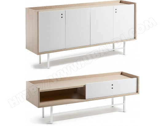 bahut lf ensemble bahut 170 meuble tv lish blanc pas cher. Black Bedroom Furniture Sets. Home Design Ideas