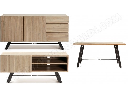 bahut lf ensemble bahut meuble tv table vita pas cher. Black Bedroom Furniture Sets. Home Design Ideas