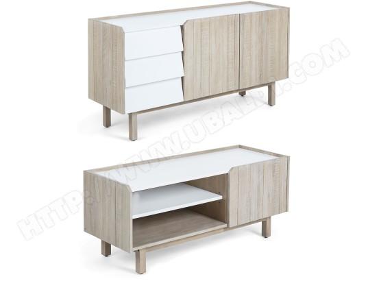 bahut lf ensemble bahut meuble tv 120cm tropea pas cher. Black Bedroom Furniture Sets. Home Design Ideas