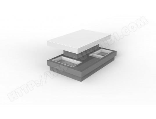 Table basse UB DESIGN Célina 110 table basse modulable gris et blanc ...