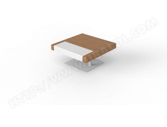 Table Blanc Design Basse Ub Erika Salon De 80 Clair Et Chêne vNmn8w0O
