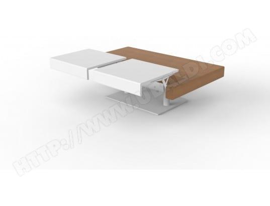 Table Basse Ub Design Erika 120 Table De Salon Chene Clair Et Blanc