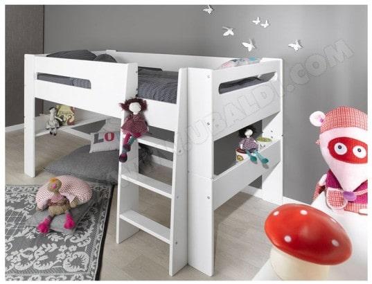 lit enfant sofamo london blanc lit mi hauteur 90x190 - Lit Enfant Pas Cher