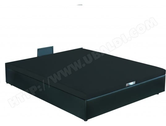 bultex sommier 140 x 190 lit coffre quartz 140x190 noir - Lit Coffre Pas Cher