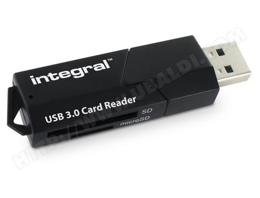 Lecteur de carte mémoire INTEGRAL USB 3.0 Card Reader INCRUSB30SDMSD