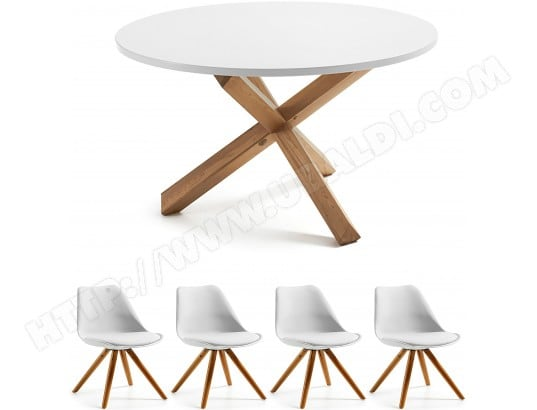 Ensemble table et chaises LF Ensemble table Nori + chaises Lars