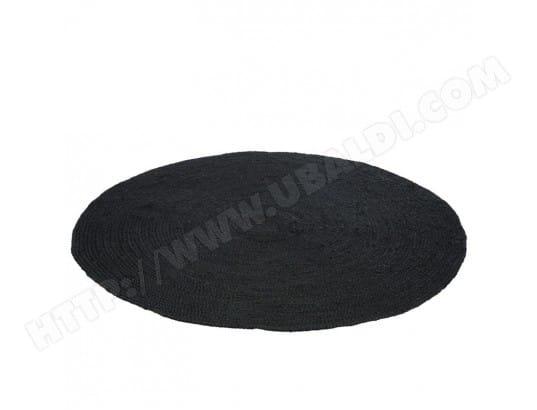 Tapis Rond En Jute Noir Dev L 150 X L 150 X H 1 Tousmesmeubles
