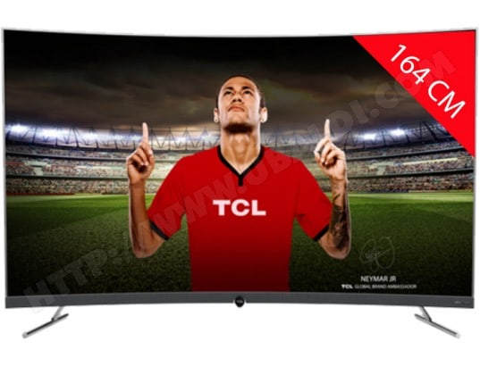 TV LED 4K incurvé 164 cm TCL 65DP676