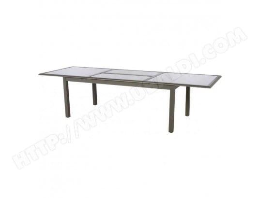 Table Azua extensible 12 personnes mastic plateau taupe HESPERIDE ...