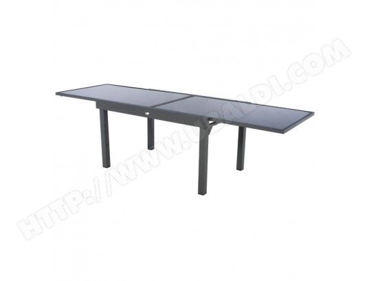 Table Piazza extensible 10 personnes anthracite/graphite Hespéride ...