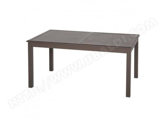 Table extensible aluminium Azua 10 personnes Hespéride taupe tonka ...