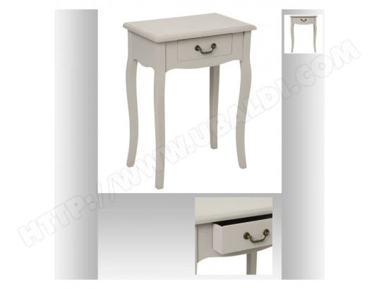 Table De Chevet 1 Tiroir Chrysa 65cm Taupe Atmosphera