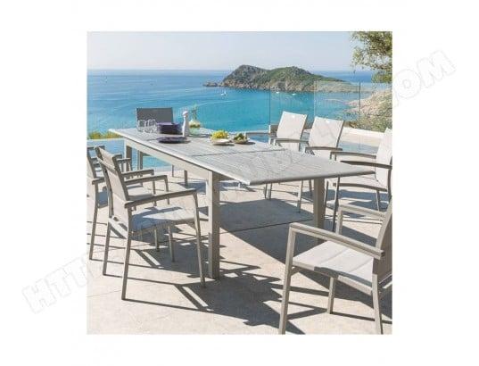 Table extensible azua en bois 12 personnes gris silver mat hesp ride hesperide jj117698 pas - Salon de jardin hesperide azua gris ...