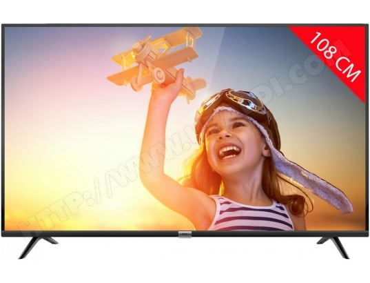 TV LED 4K 108 cm TCL 43DP602