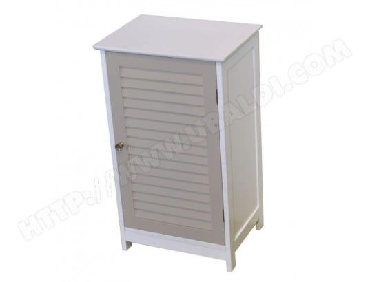 Meuble bas 1 porte taupe generique ma 23ca43 meub 3jqd4 for Meuble salle de bain 30 cm largeur