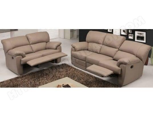 canap cuir divani form althea 3 places 2 relax lectriques cuir - Canape Relax 3 Places