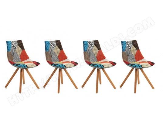 Chaise LF Lot De 4 Chaises Armony Patchwork Pas Cher