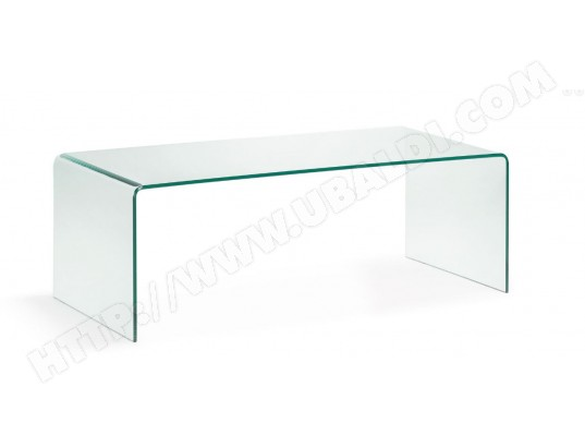 table basse lf burano verre transparent 110 x 50 cm pas. Black Bedroom Furniture Sets. Home Design Ideas