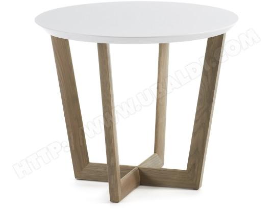 Table Basse Lf Rondo Blanc Chêne Diamètre 60 Cm Pas Cher Ubaldicom