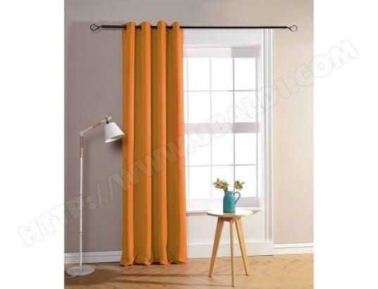 rideaux occultant orange 140 x 260 cm univers decor ma 80ca528ride siycj pas cher. Black Bedroom Furniture Sets. Home Design Ideas