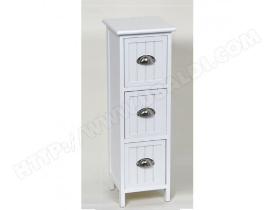 meuble 3 tiroirs blanc generique ma 23ca43 meub 9ylr4 pas cher. Black Bedroom Furniture Sets. Home Design Ideas