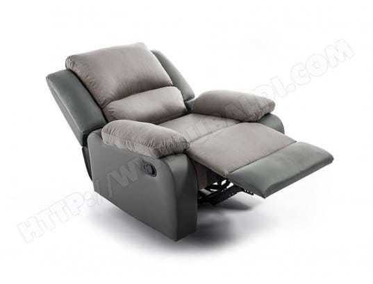 Fauteuil Relaxation 1 place Microfibre   Simili DETENTE - Couleur - Gris  USINESTREET MA-80CA93 FAUT 08457fb7ecb5