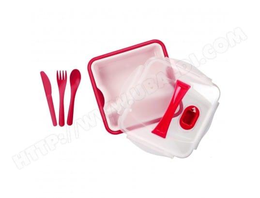 cmp paris ma 21ca211lunc sl8je pas cher lunch box compartiment e avec couverts rose. Black Bedroom Furniture Sets. Home Design Ideas