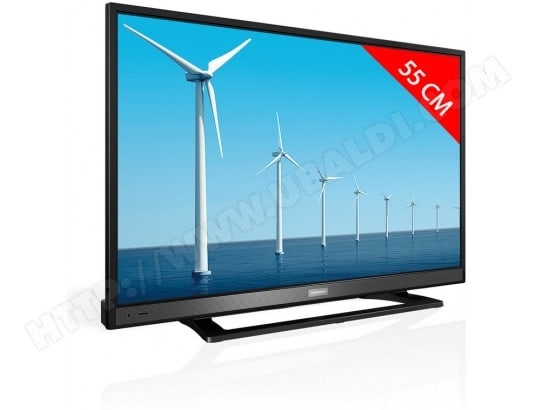 grundig 22 vle 5520 bg 12 volts tv led full hd 55 cm livraison gratuite. Black Bedroom Furniture Sets. Home Design Ideas