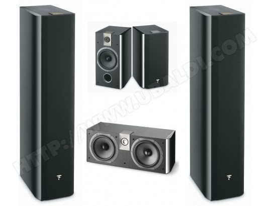 Pack d'enceintes Home Cinema FOCAL CHORUS726 x2 + CHORUS706 x2 + CHORUS CC700 Black