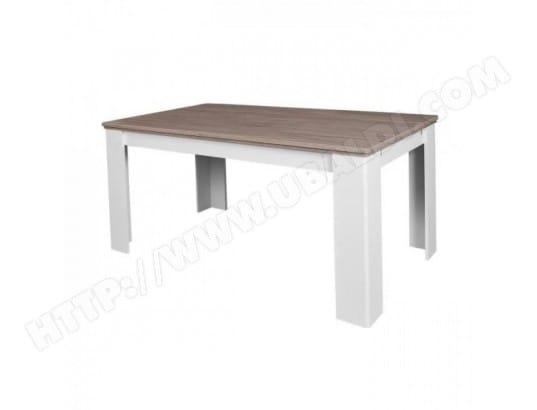 a2f1b4ea8cf960 DESSY Table a manger extensible de 6 a 10 personnes contemporain style  blanc mat et decor
