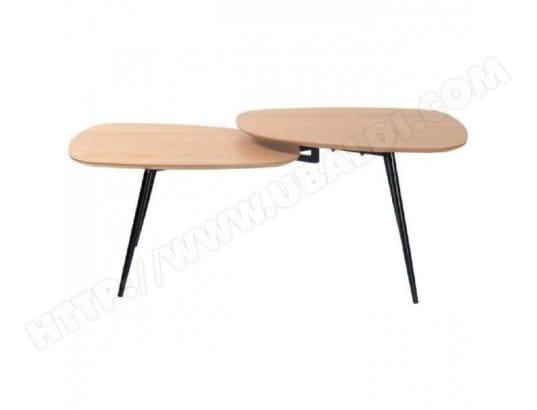 photos officielles b007e 4367b LINK Table basse scandinave placage chene vernis naturel ...